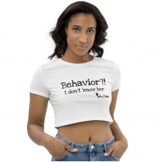 No Behavior Cap Sleeve Crop Top